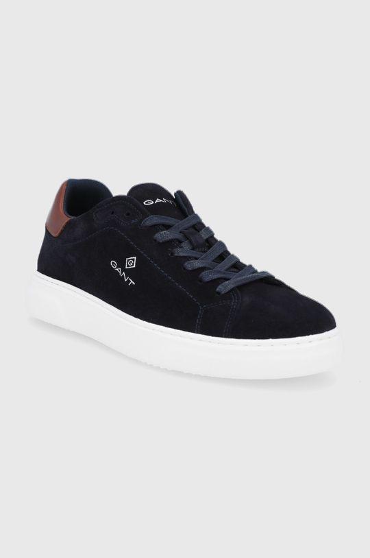 Gant - Kožené boty Joree námořnická modř