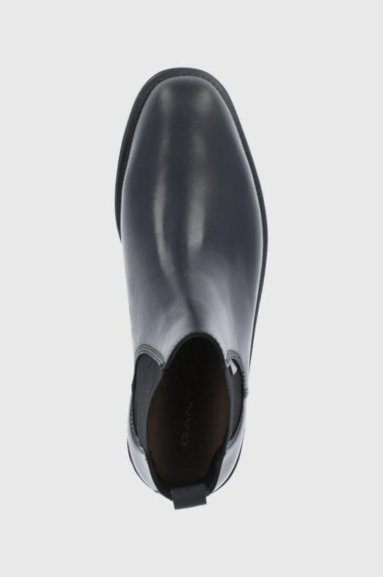 černá Gant - Kožené kotníkové boty Brockwill