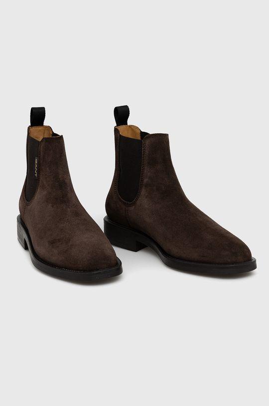 Gant - Sztyblety zamszowe Brockwill brązowy