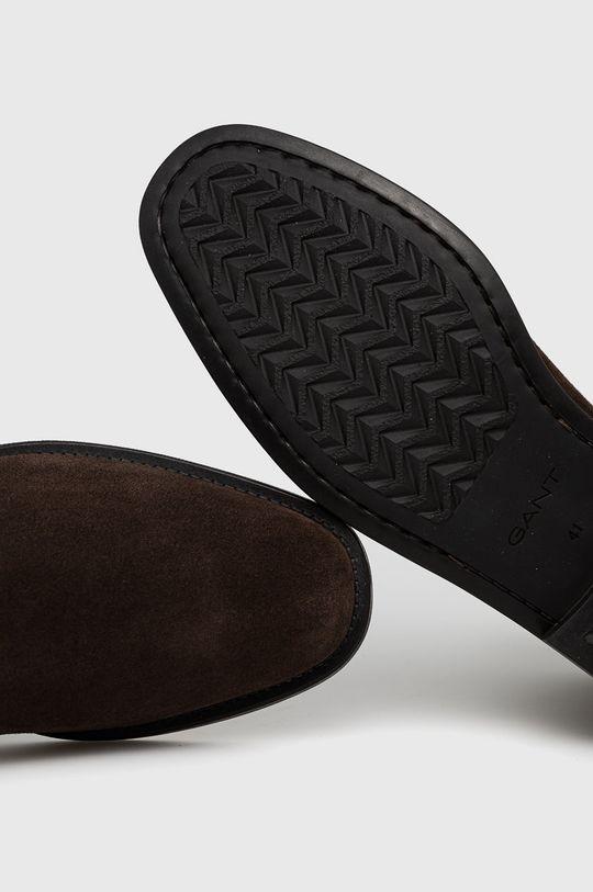 brązowy Gant - Sztyblety zamszowe Brockwill