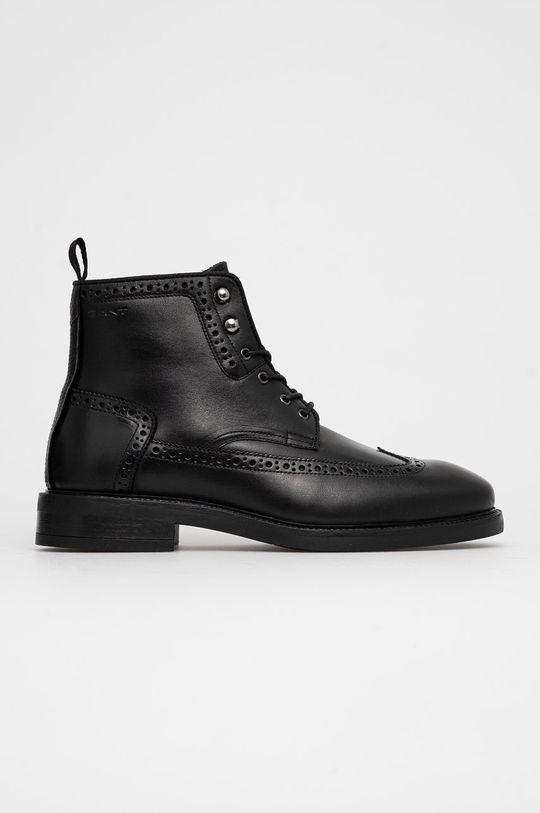 černá Gant - Kožené boty Flairville Pánský