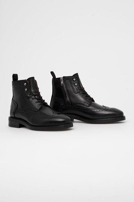 Gant - Kožené boty Flairville černá
