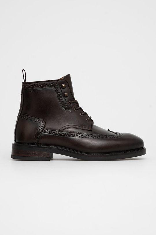 ciemny brązowy Gant - Buty skórzane Flairville Męski