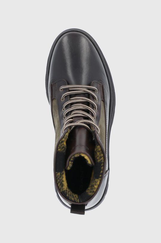 hnedo zelená Gant - Kožená obuv St Grip