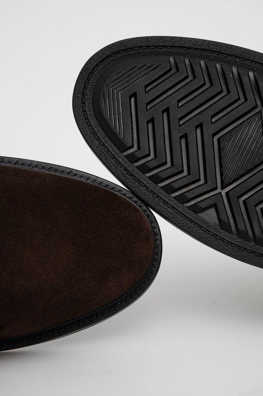 ciemny brązowy Gant - Trzewiki skórzane Kyree