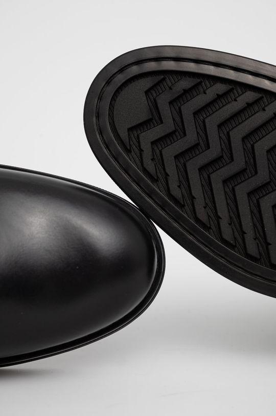 czarny Gant - Sztyblety skórzane Brookly