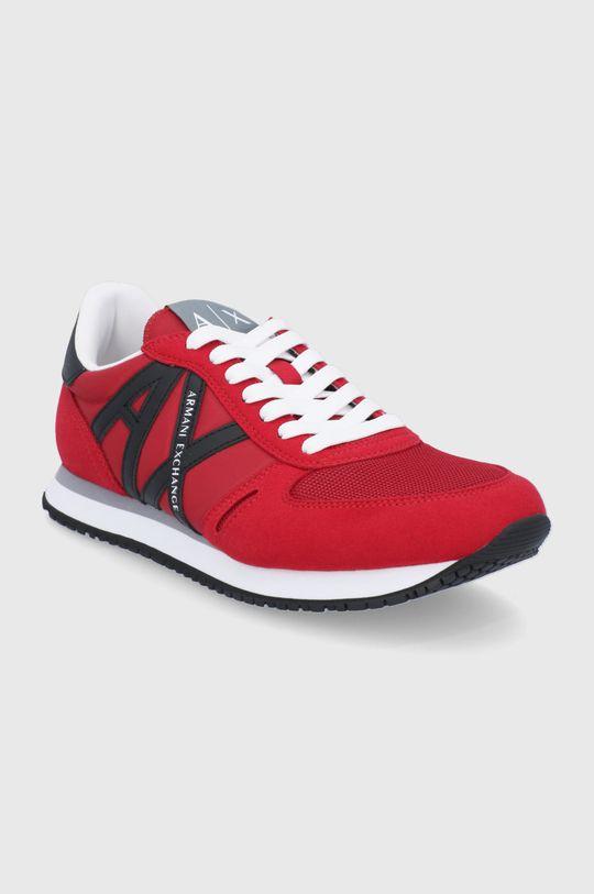 Armani Exchange - Boty červená