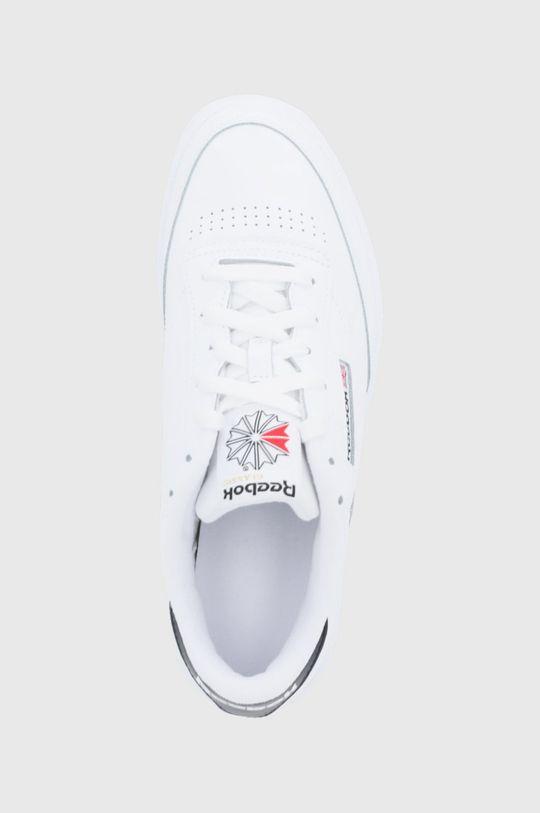biały Reebok Classic - Buty skórzane Club C 85