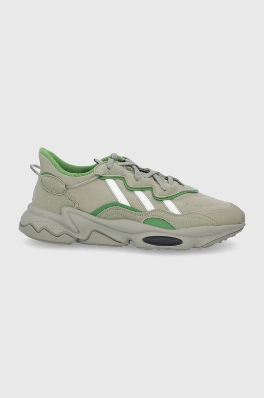 brązowa zieleń adidas Originals - Buty Ozweego Męski