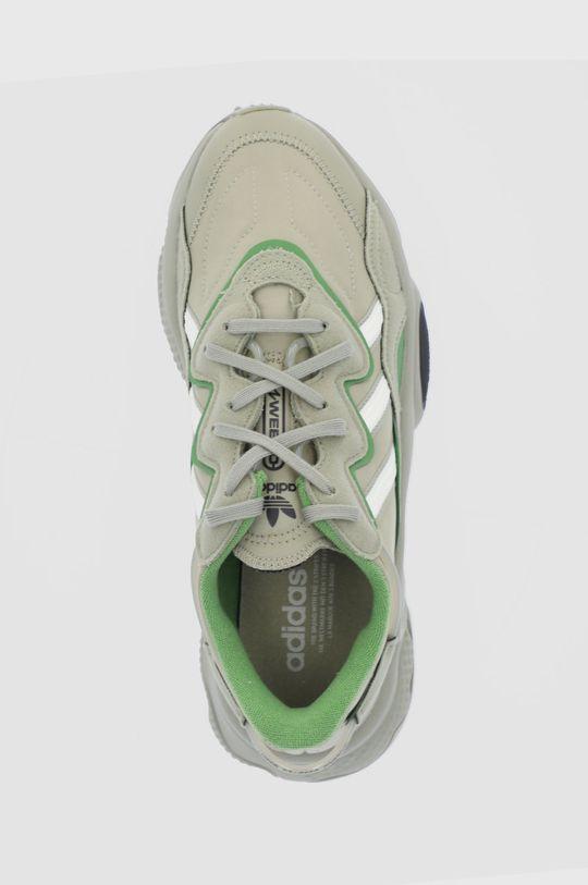 brązowa zieleń adidas Originals - Buty Ozweego