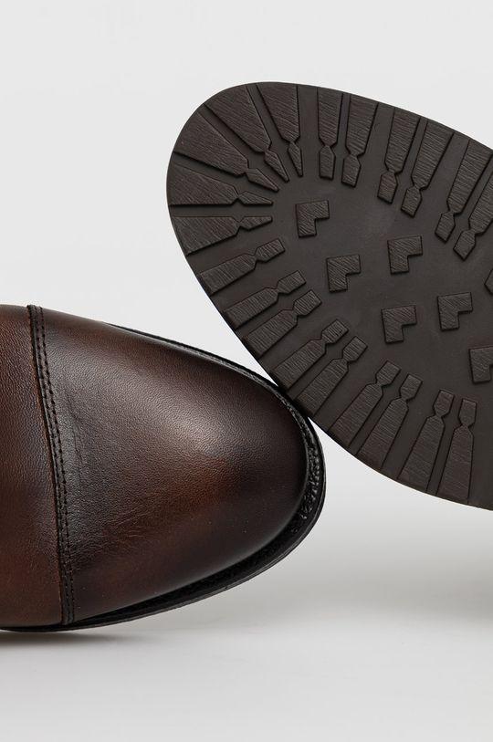 hnědá Aldo - Kožené boty Merad