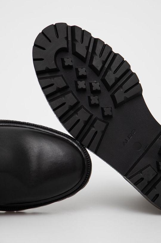 černá Aldo - Kožené kotníkové boty Alencia