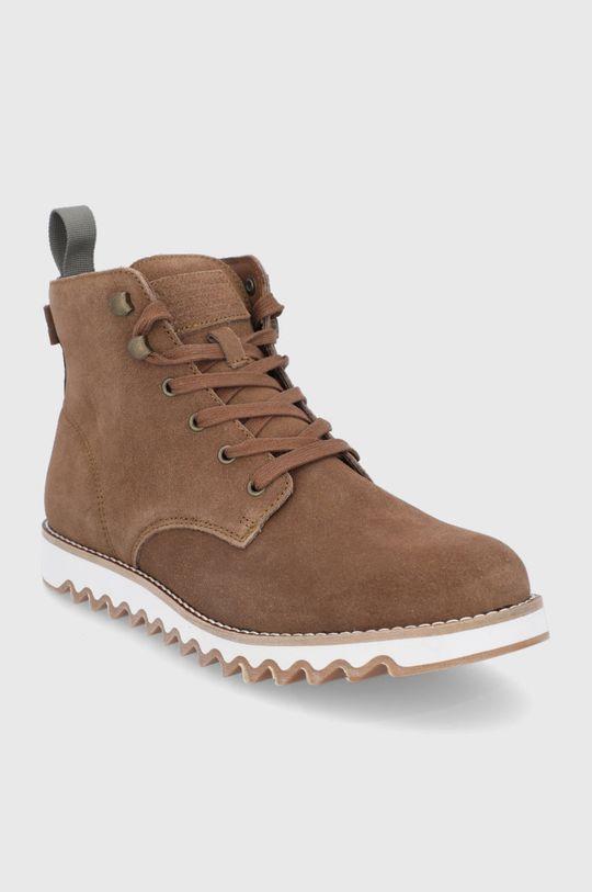 Levi's - Semišové boty hnědá
