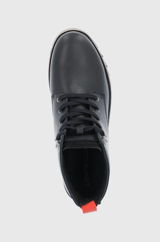 černá Levi's - Kožené boty