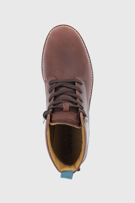 hnědá Levi's - Kožené boty