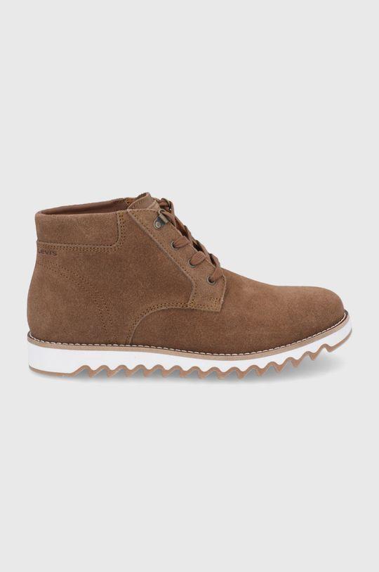 hnědá Levi's - Semišové boty Pánský