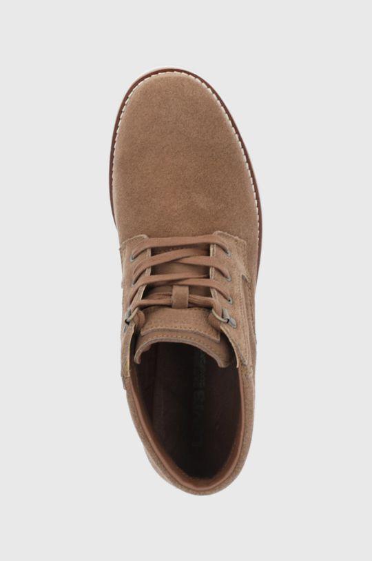 hnědá Levi's - Semišové boty