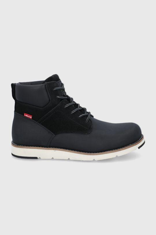 černá Levi's - Kotníkové boty Pánský