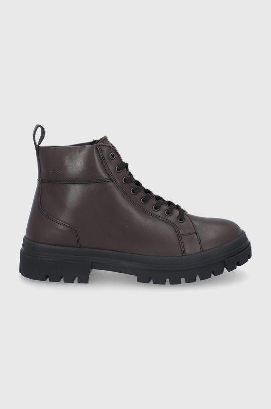 hnědá Levi's - Kožené boty Pánský