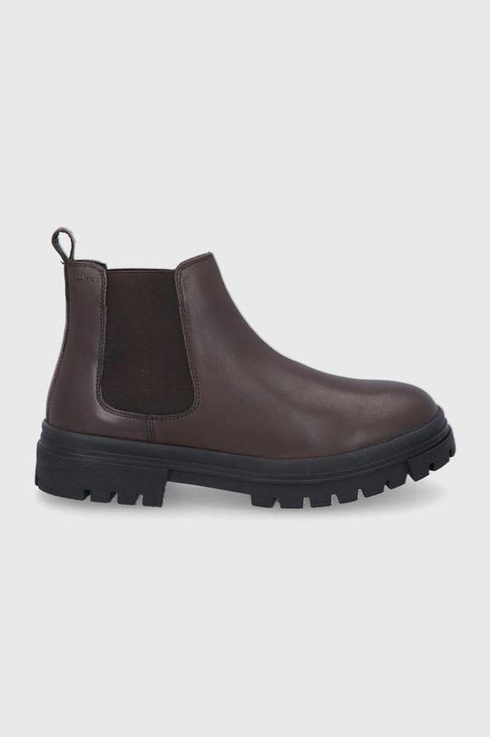 hnědá Levi's - Kožené kotníkové boty Pánský