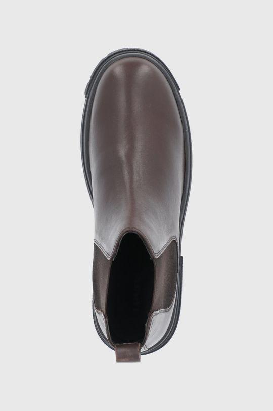hnědá Levi's - Kožené kotníkové boty