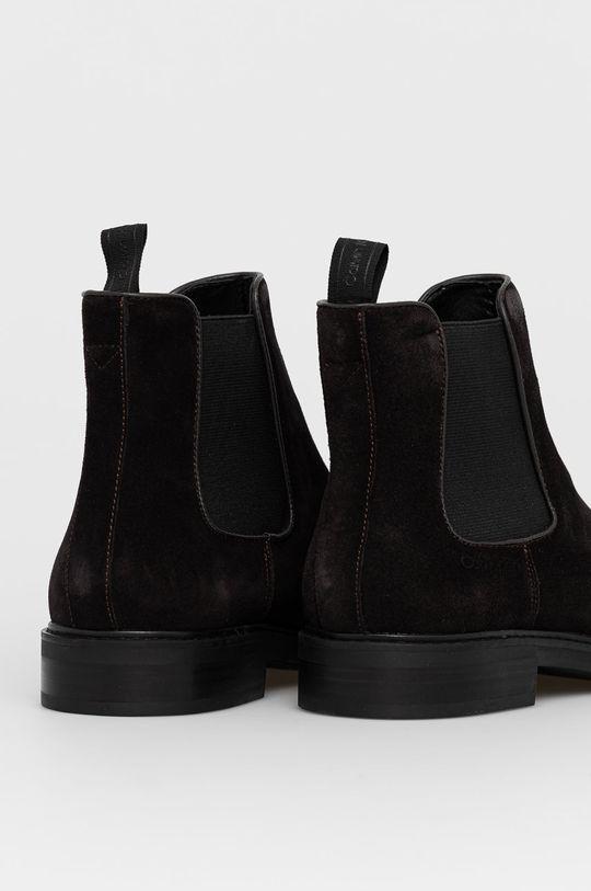 Calvin Klein - Semišové kotníkové boty  Svršek: Semišová kůže Vnitřek: Textilní materiál, Přírodní kůže Podrážka: Umělá hmota