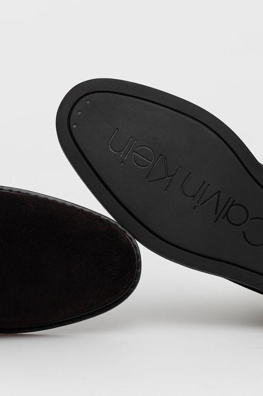 hnědá Calvin Klein - Semišové kotníkové boty