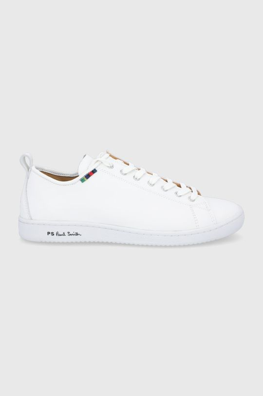 biela PS Paul Smith - Kožená obuv Miyata Pánsky