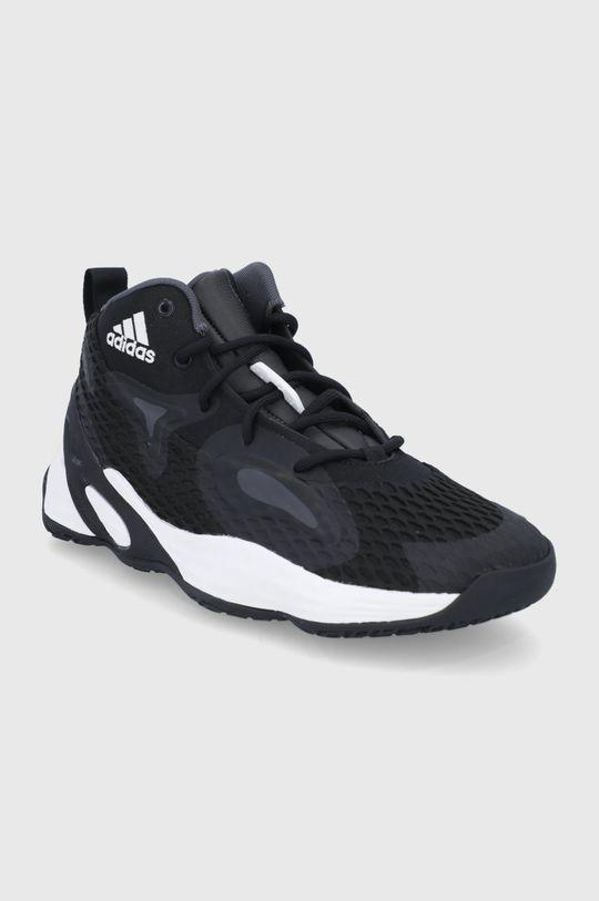 adidas Performance - Υποδήματα Exhibit A Mid μαύρο