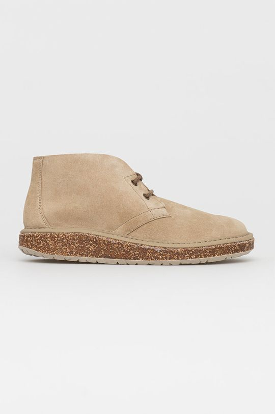 béžová Birkenstock - Kožené boty Milton Pánský