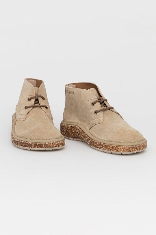Birkenstock - Kožené boty Milton béžová
