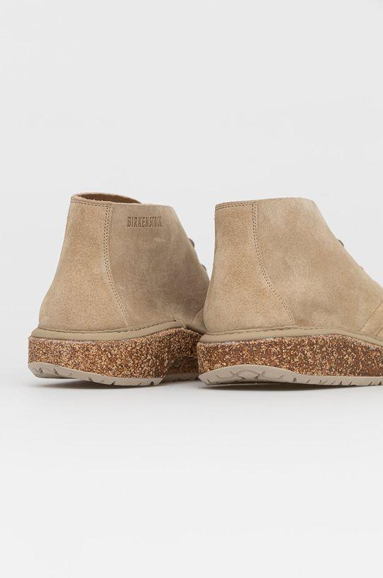 Birkenstock - Kožené boty Milton  Svršek: Semišová kůže Vnitřek: Umělá hmota, Přírodní kůže Podrážka: Umělá hmota