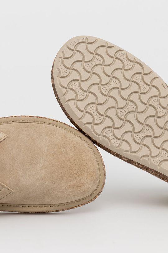 béžová Birkenstock - Kožené boty Milton