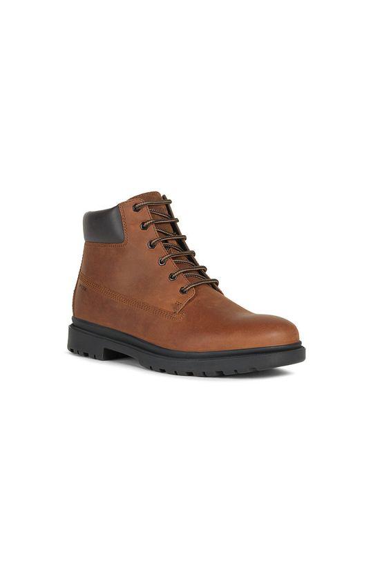 Geox - Buty skórzane brązowy