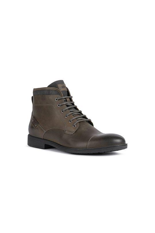 Geox - Buty skórzane ciemny brązowy