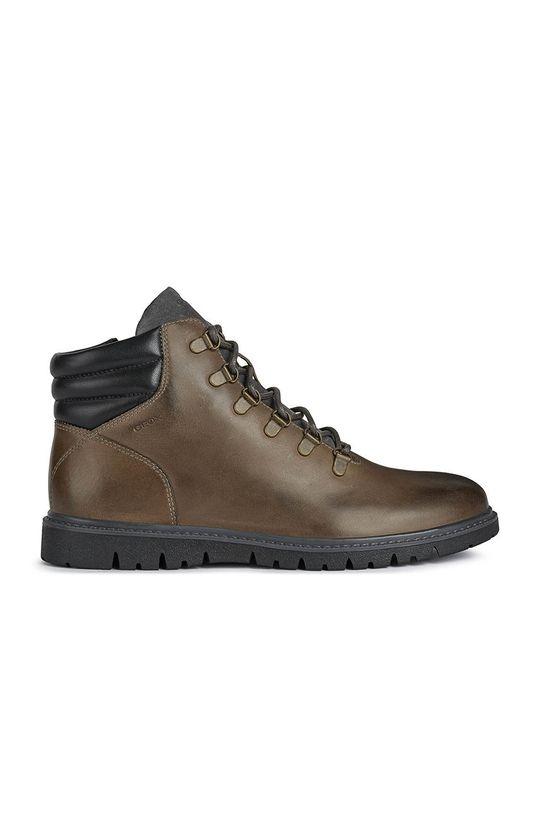 καφέ Geox - Δερμάτινα παπούτσια Ανδρικά