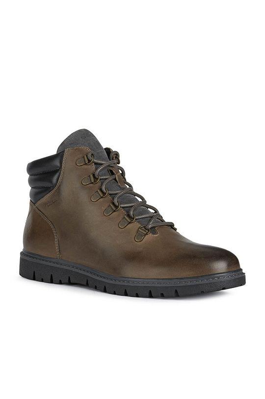Geox - Δερμάτινα παπούτσια καφέ