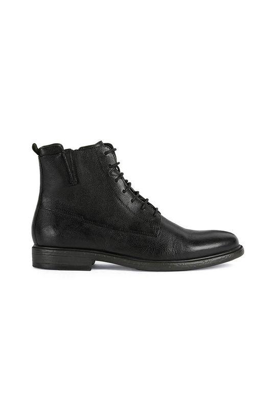 čierna Geox - Kožené topánky Pánsky