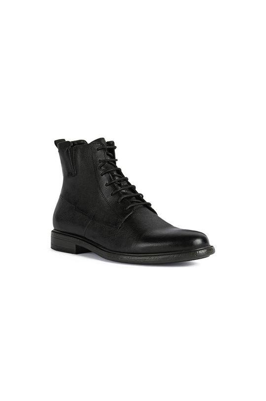 Geox - Kožené topánky čierna