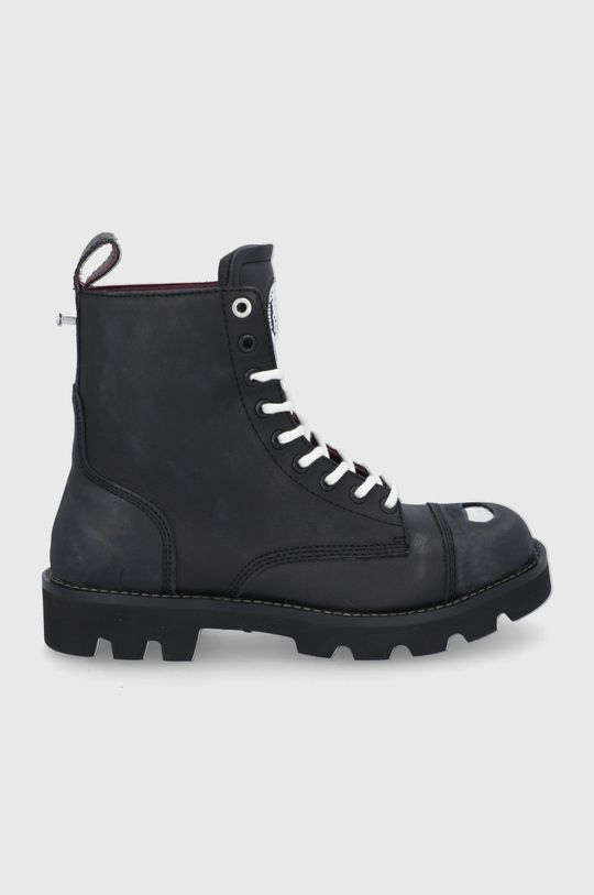 černá Diesel - Kožené boty Pánský