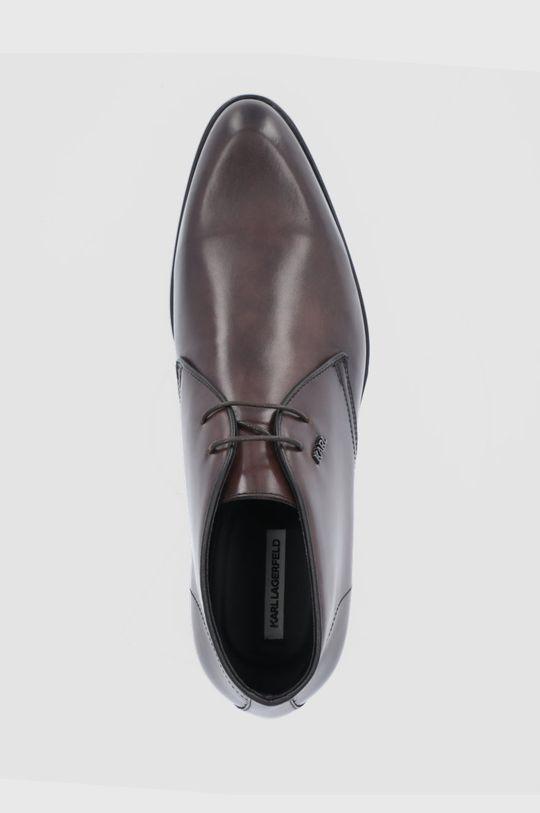 ciemny brązowy Karl Lagerfeld - Buty skórzane