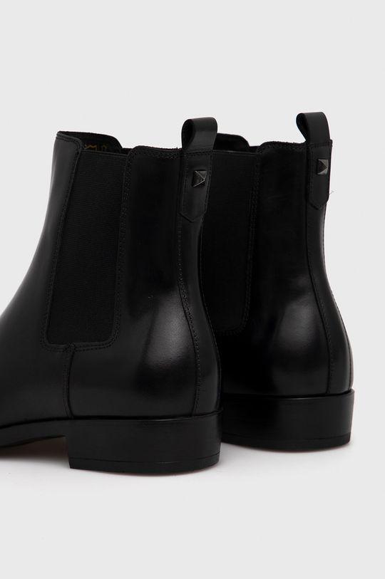 Karl Lagerfeld - Sztyblety skórzane Cholewka: Skóra naturalna, Wnętrze: Materiał tekstylny, Skóra naturalna