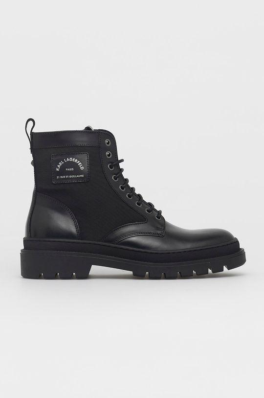 czarny Karl Lagerfeld - Buty Męski