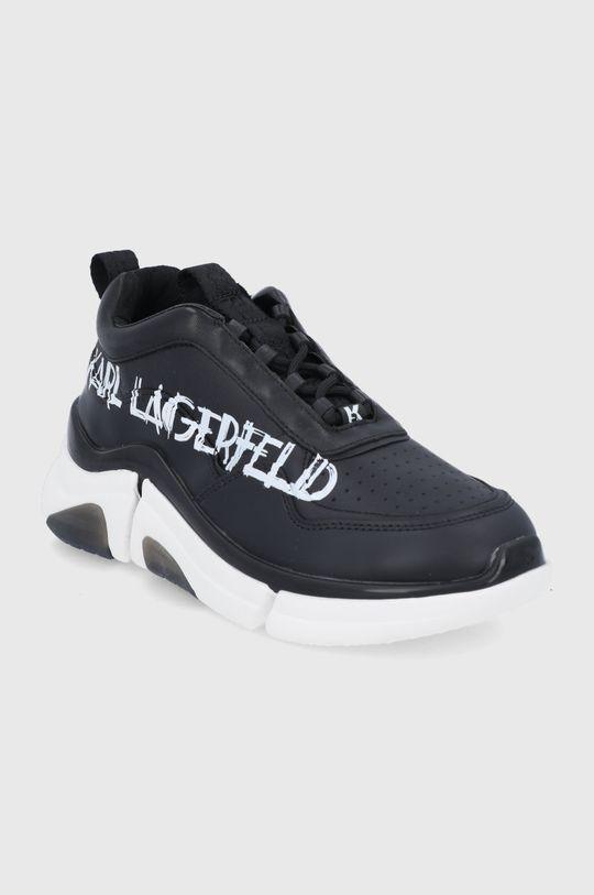 Karl Lagerfeld - Buty skórzane czarny