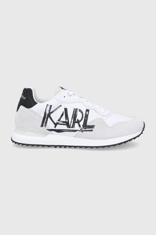 biały Karl Lagerfeld - Buty skórzane Męski