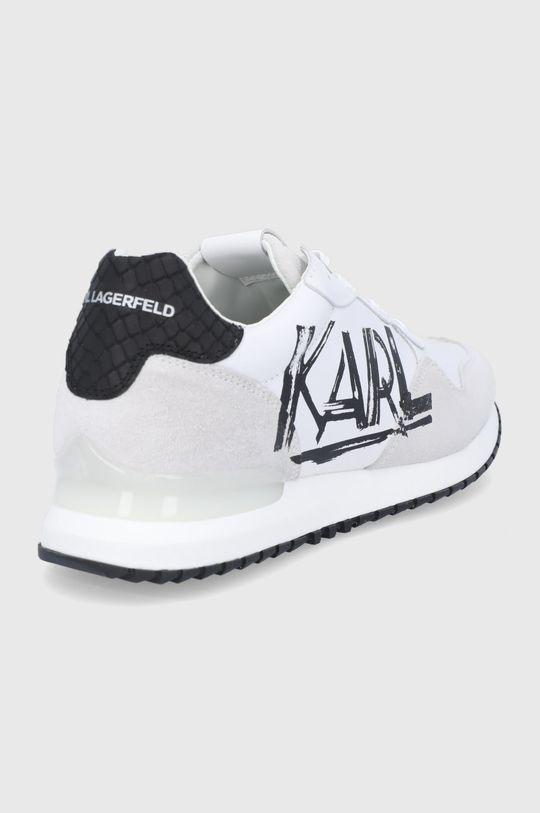 Karl Lagerfeld - Buty skórzane Cholewka: Skóra naturalna, Skóra zamszowa, Wnętrze: Materiał syntetyczny, Materiał tekstylny, Podeszwa: Materiał syntetyczny