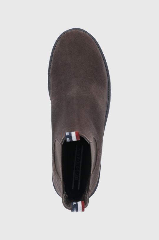 ciemny brązowy U.S. Polo Assn. - Sztyblety zamszowe