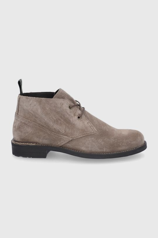 béžová Marc O'Polo - Semišové boty Pánský
