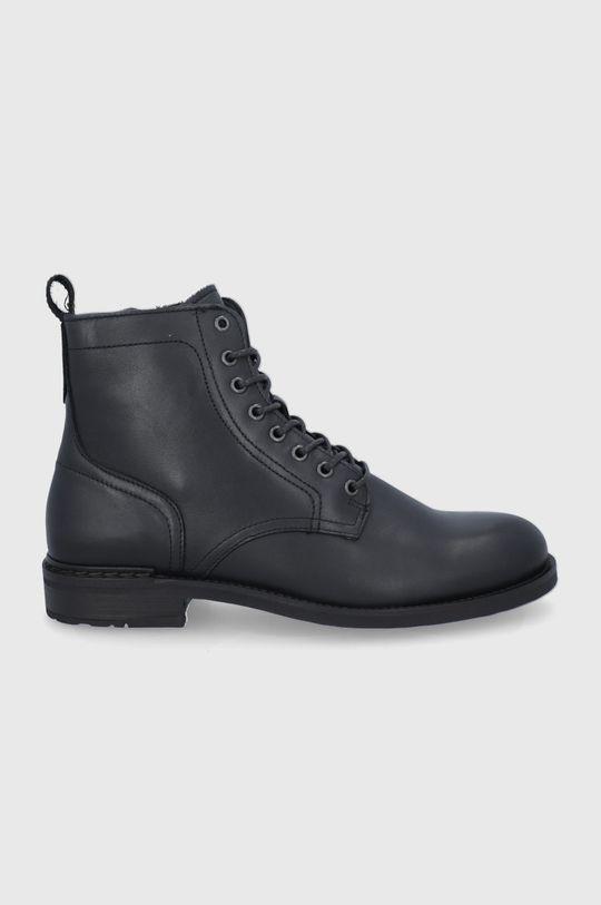 černá Marc O'Polo - Kožené boty Pánský