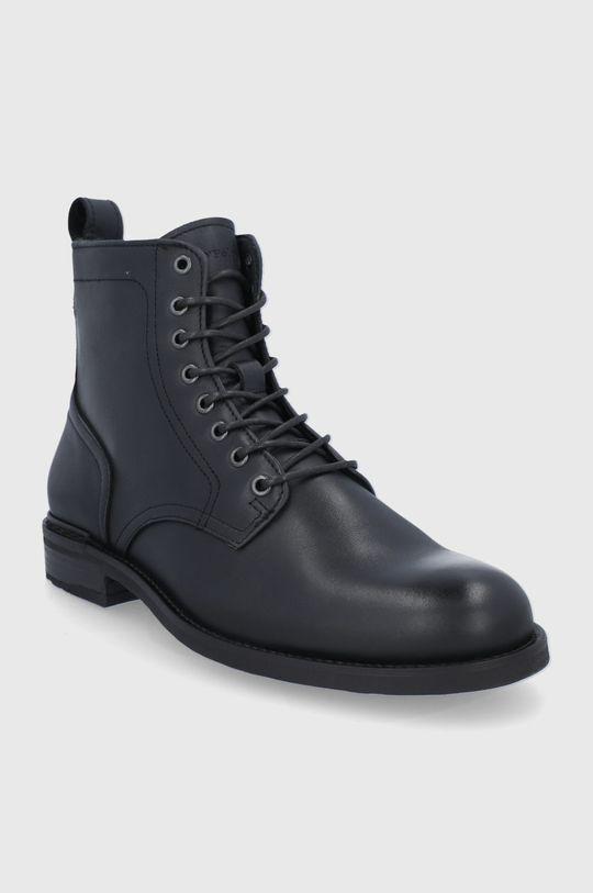 Marc O'Polo - Kožené boty černá